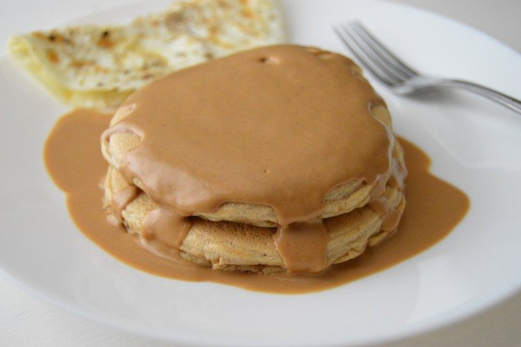Double Peanut Butter Flourless Pancakes