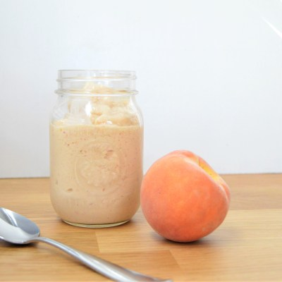 Sugar Free Peaches and Cream Protein Smoothie