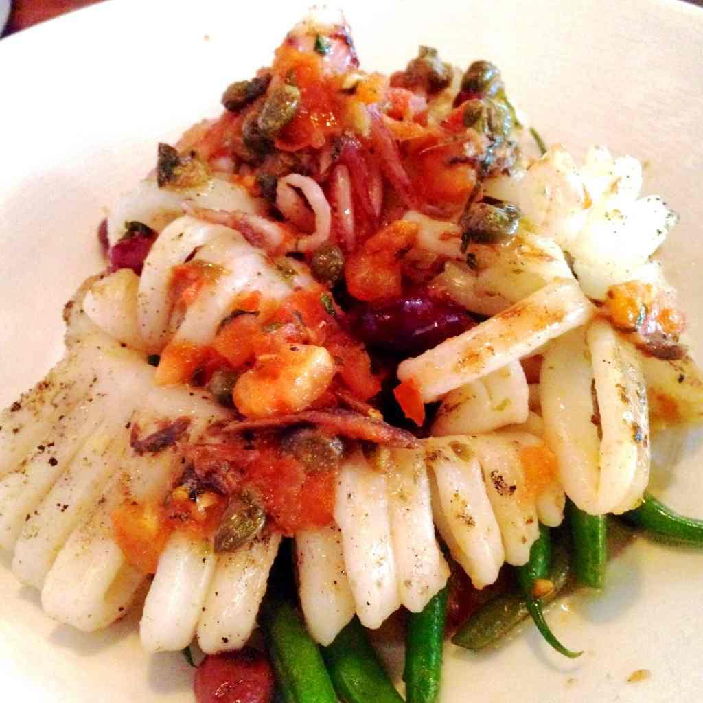 Grilled Calamari O&B oliver bonacini cafe grill