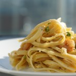 Lemon Fettuccine Pasta Garlic Shrimps