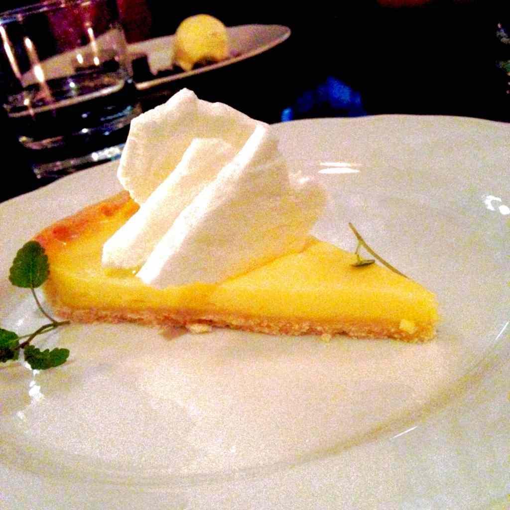 Lemon meringue tart, pie, la societe, dessert, food, winterlicious, toronto, 2015