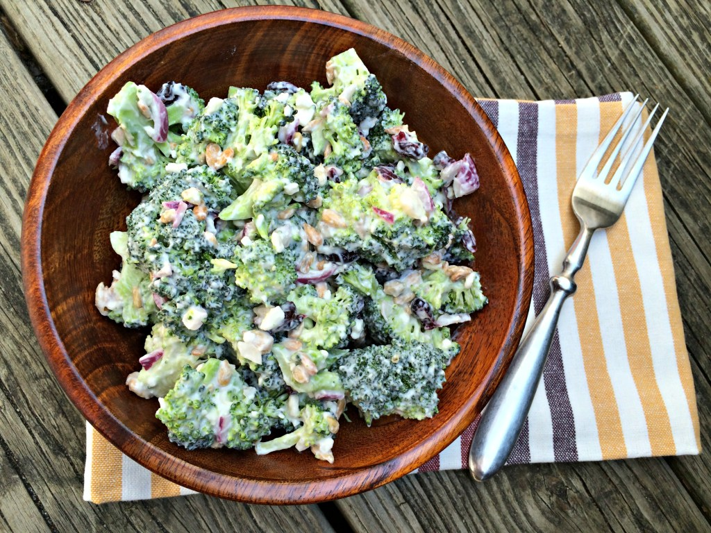 Creamy Broccoli Salad with Dried Cranberries