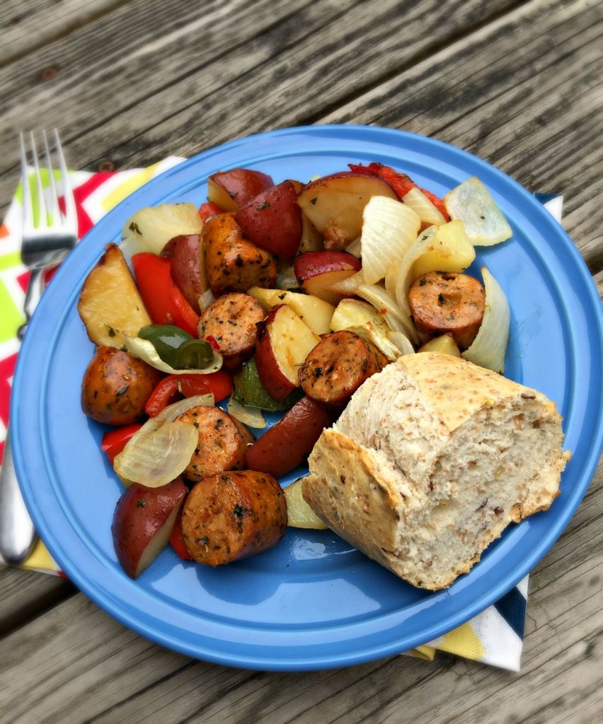 Roasted Chicken Sausage with Vegetables
