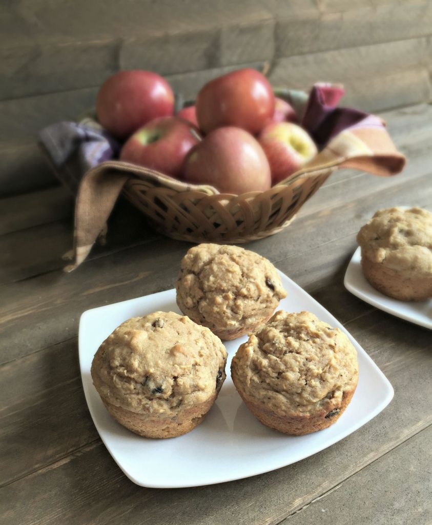 Whole Wheat Apple Raisin Muffins