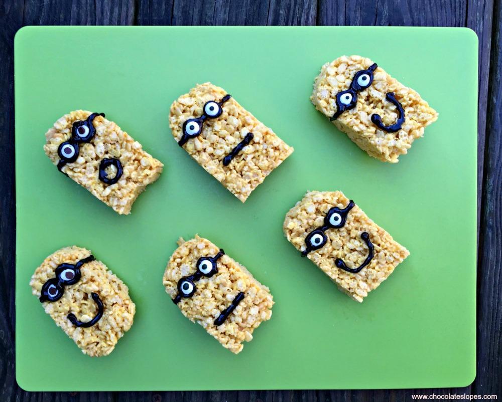 Minions Rice Crispy Treats + Movie Night!