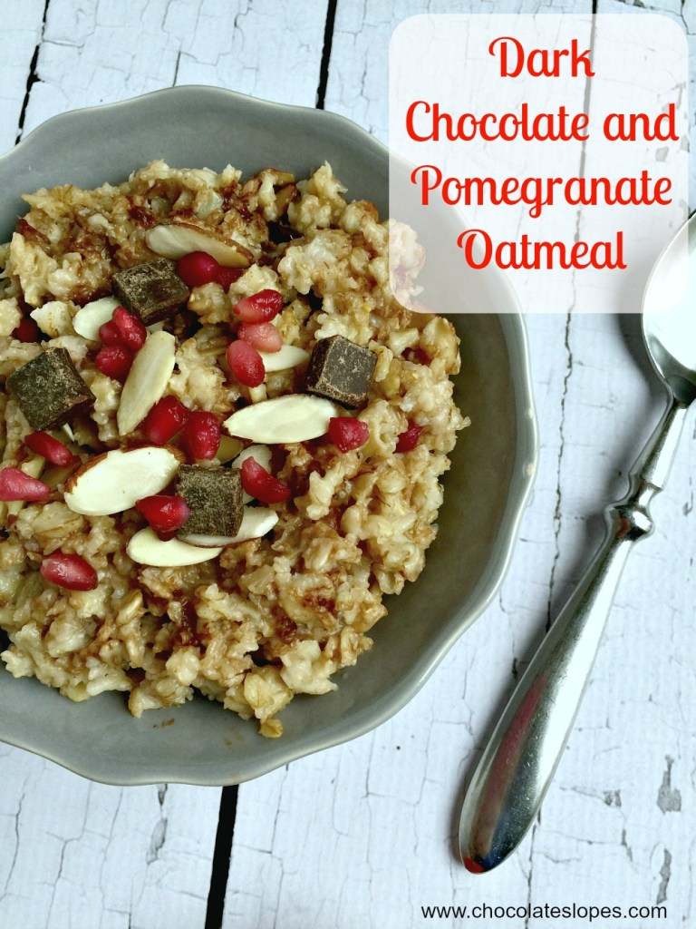 Dark Chocolate and Pomegranate Oatmeal