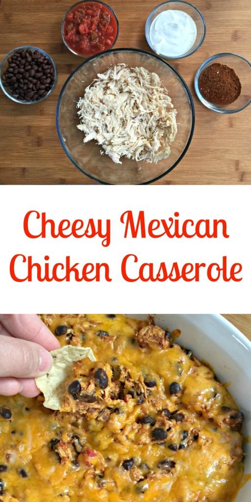 cheesy mexican chicken casserole
