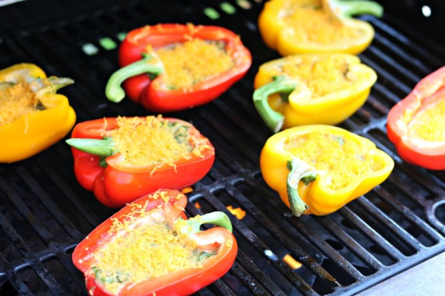 grilled egg stuffed peppers with sharp.cheddar.cheese