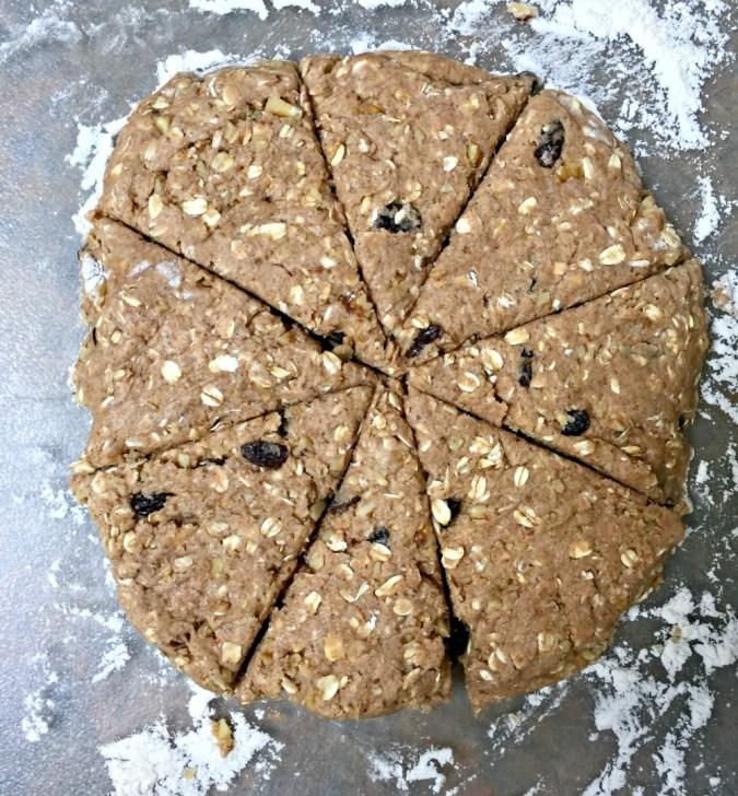 oatmeal walnut raisins scones