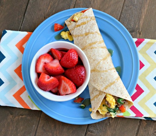 Beef & Spinach Breakfast Burritos