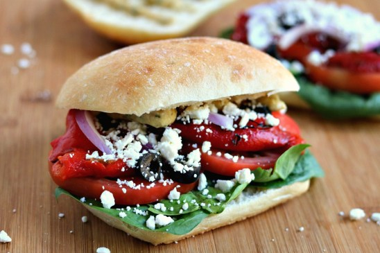 mediterranean veggie panini sabra