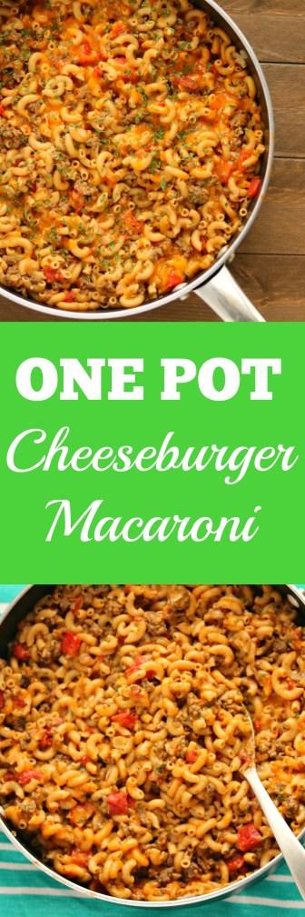 One Pot Cheeseburger Macaroni