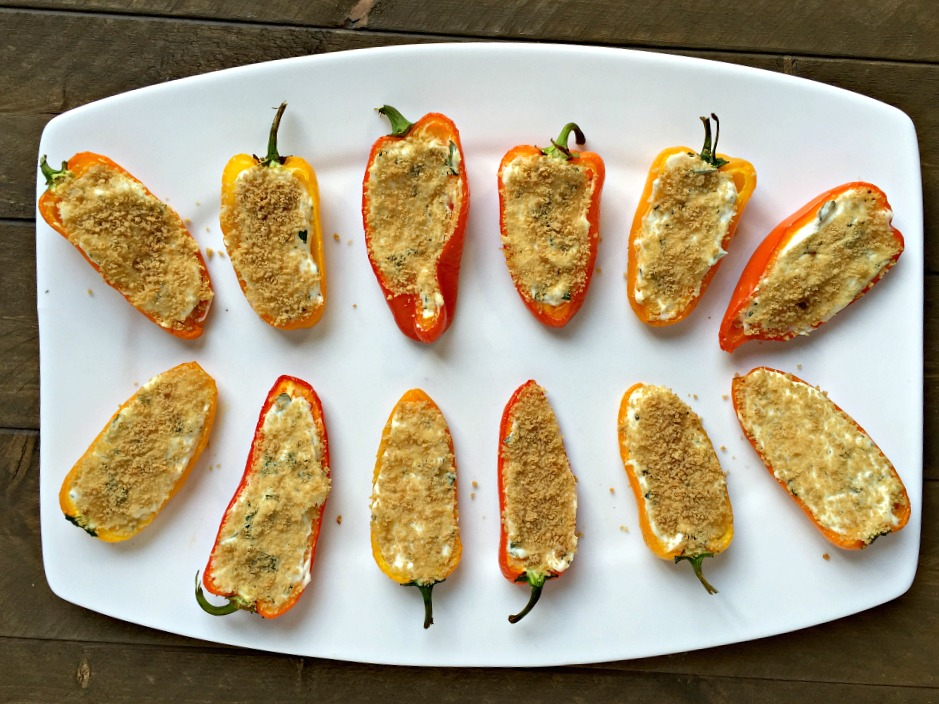 Herb & Cheese Stuffed Mini Peppers