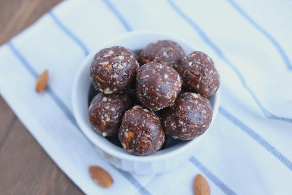 Chocolate Almond Protein Energy Bites