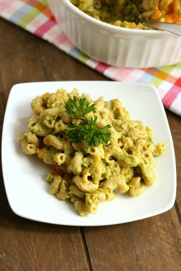 baked green mac and cheese
