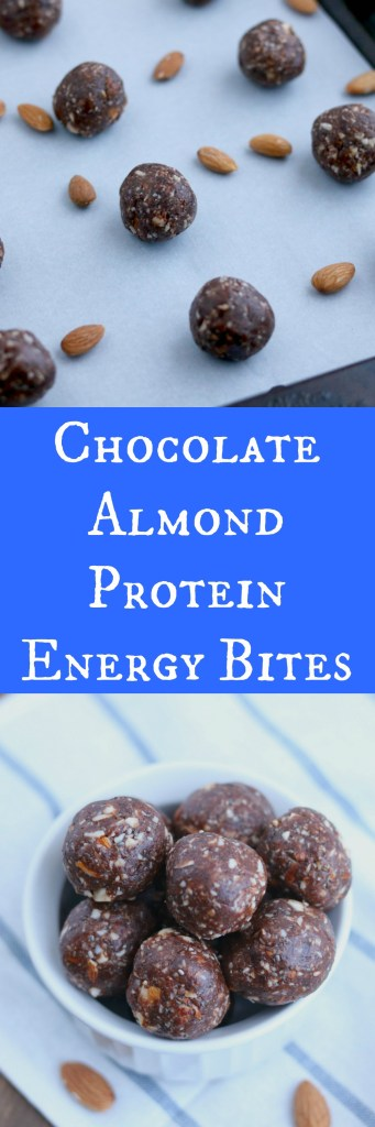 chocolate almond power energy bites