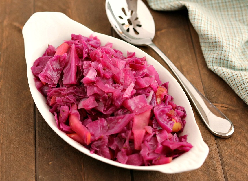 Sautéed Red Cabbage with Apples