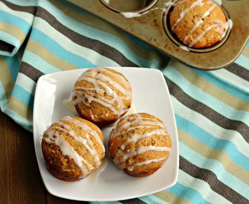 Rhubarb Apple Cinnamon Muffins