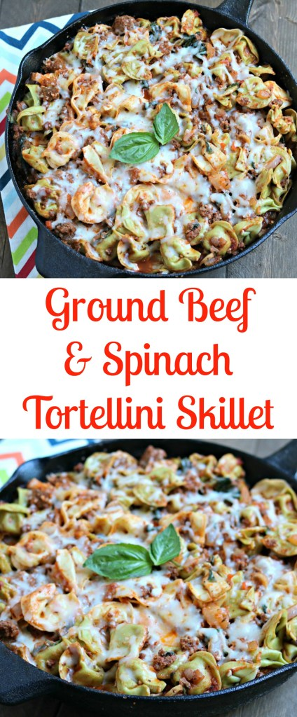 Ground Beef Spinach Tortellini Skillet