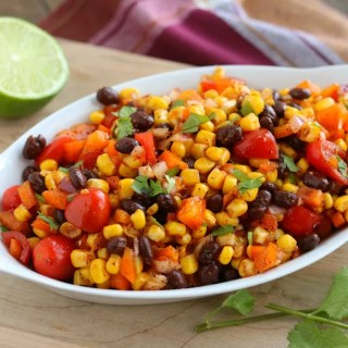Mexican corn and black bean salad