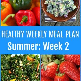 weekly meal plan.summer week 2
