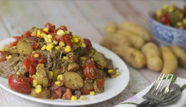 Chimichurri Sirloin Steak with Fingerling Potatoes