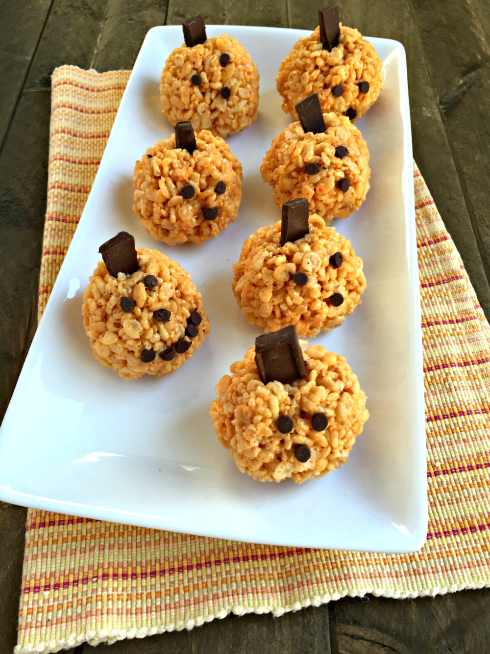 halloween pumpkin rice krispies