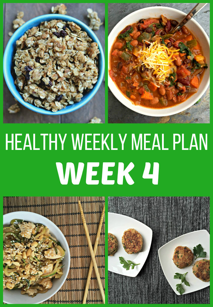 Healthy Weekly Meal Plan {Week Four}
