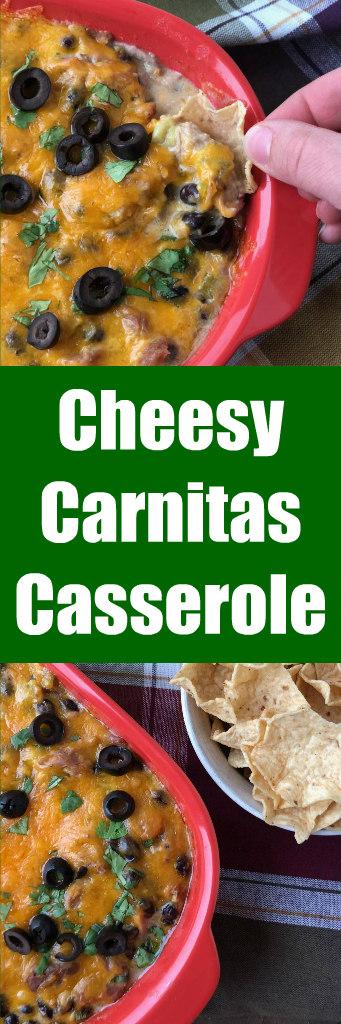cheesy carnitas casserole