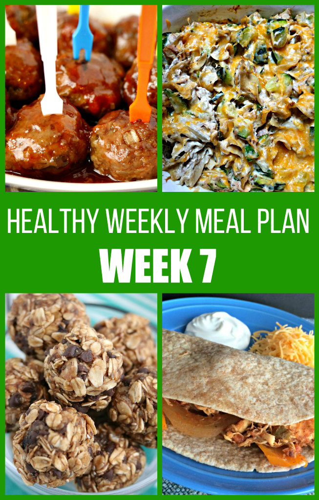 Healthy Weekly Meal Plan {Week Seven}