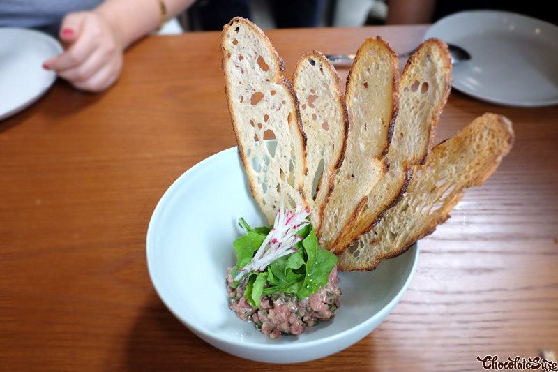 Grass fed veal tartare at Kensington Street Social, Chippendale