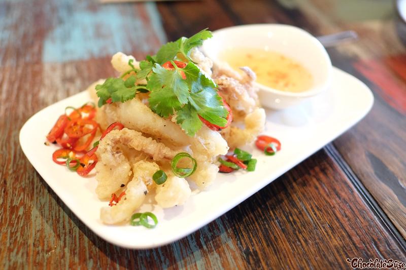 Salt and Pepper Calamari at Yang & Co, Castlecrag