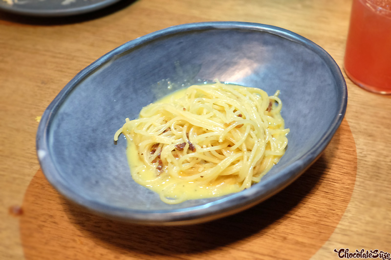 Spaghetti carbonara at Bar Brosé, Darlinghurst
