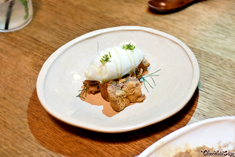 Wild fennel ice cream, fernet chocolate, walnut at Bar Brosé, Darlinghurst