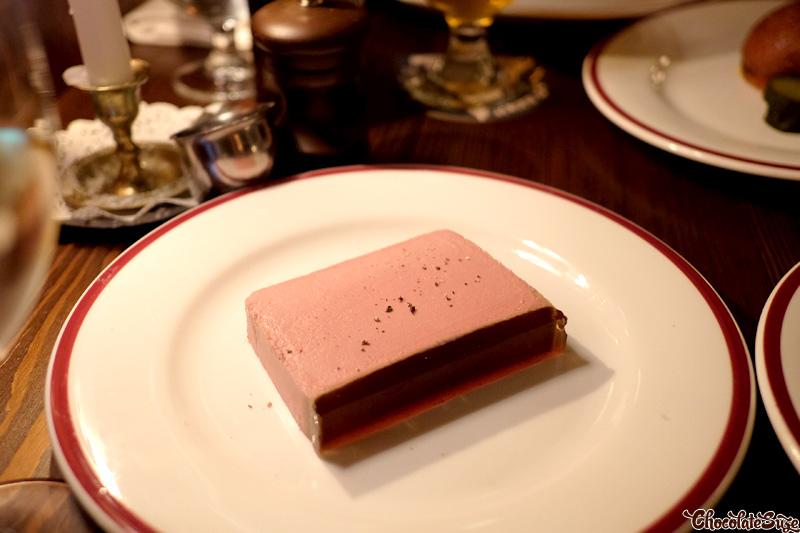 Duck liver parfait at Restaurant Hubert, Sydney