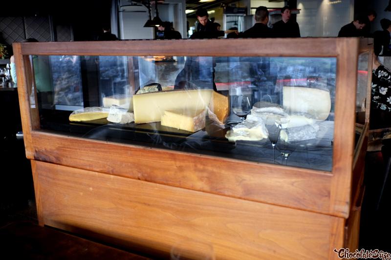 Cheese trolley at Vue de monde, Melbourne