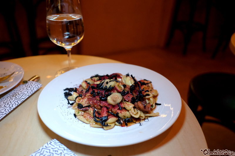 Cavatelli, Octopus, Bone Marrow, Scrumphs at The Wine Room, Surry Hills