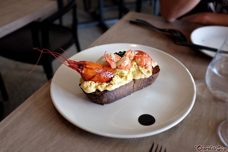 Marron scrambled eggs at Saint Peter, Paddington