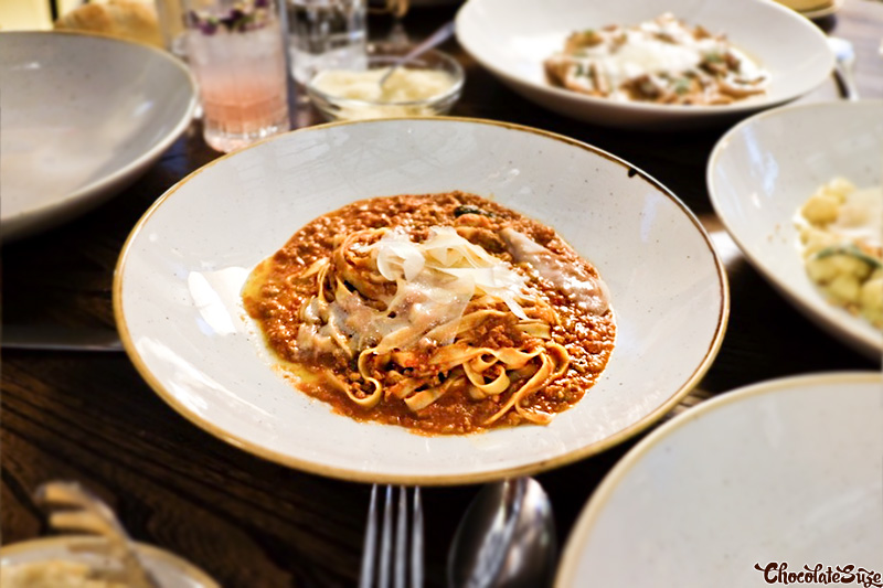 Tagliatelle with Bolognese sauce at Bar Machiavelli, Rushcutters Bay