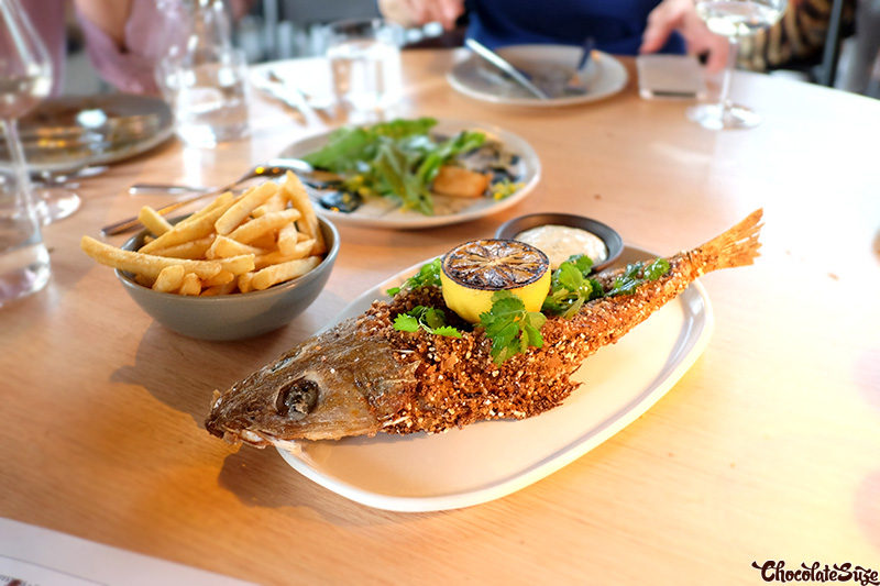 Fish and Chips at Cirrus Dining, Barangaroo, Sydney