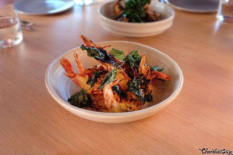 Prawns at Cirrus Dining, Barangaroo, Sydney