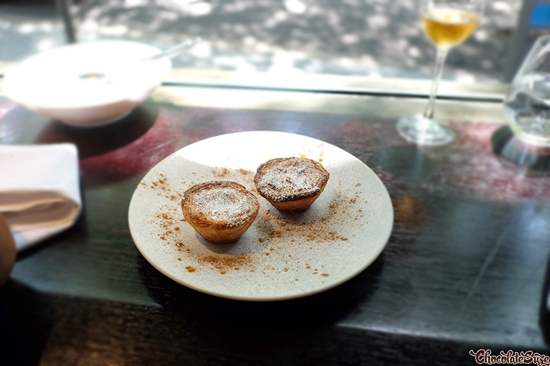 Sweet Belem Portuguese tart at Bibo Wine Bar, Double Bay