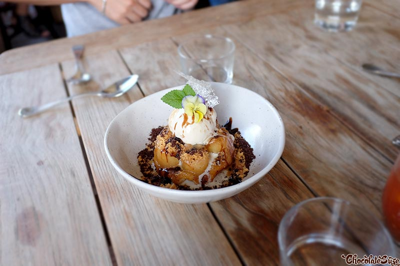 Banana tart tatin at Acre Eatery, Glebe