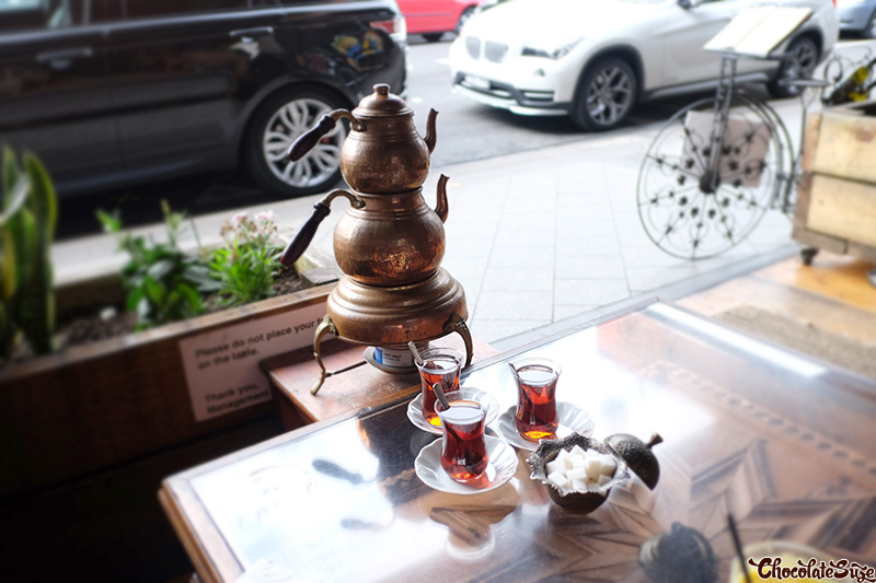 Turkish tea at Ferah Cafe and Restaurant, Newtown