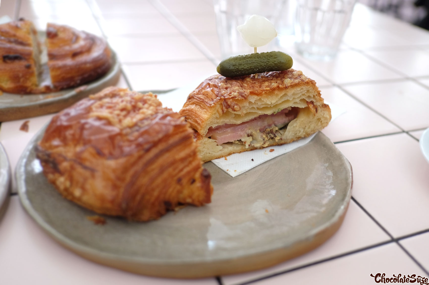 Ham and Cheese croissant at Rollers Bakehouse, Manly