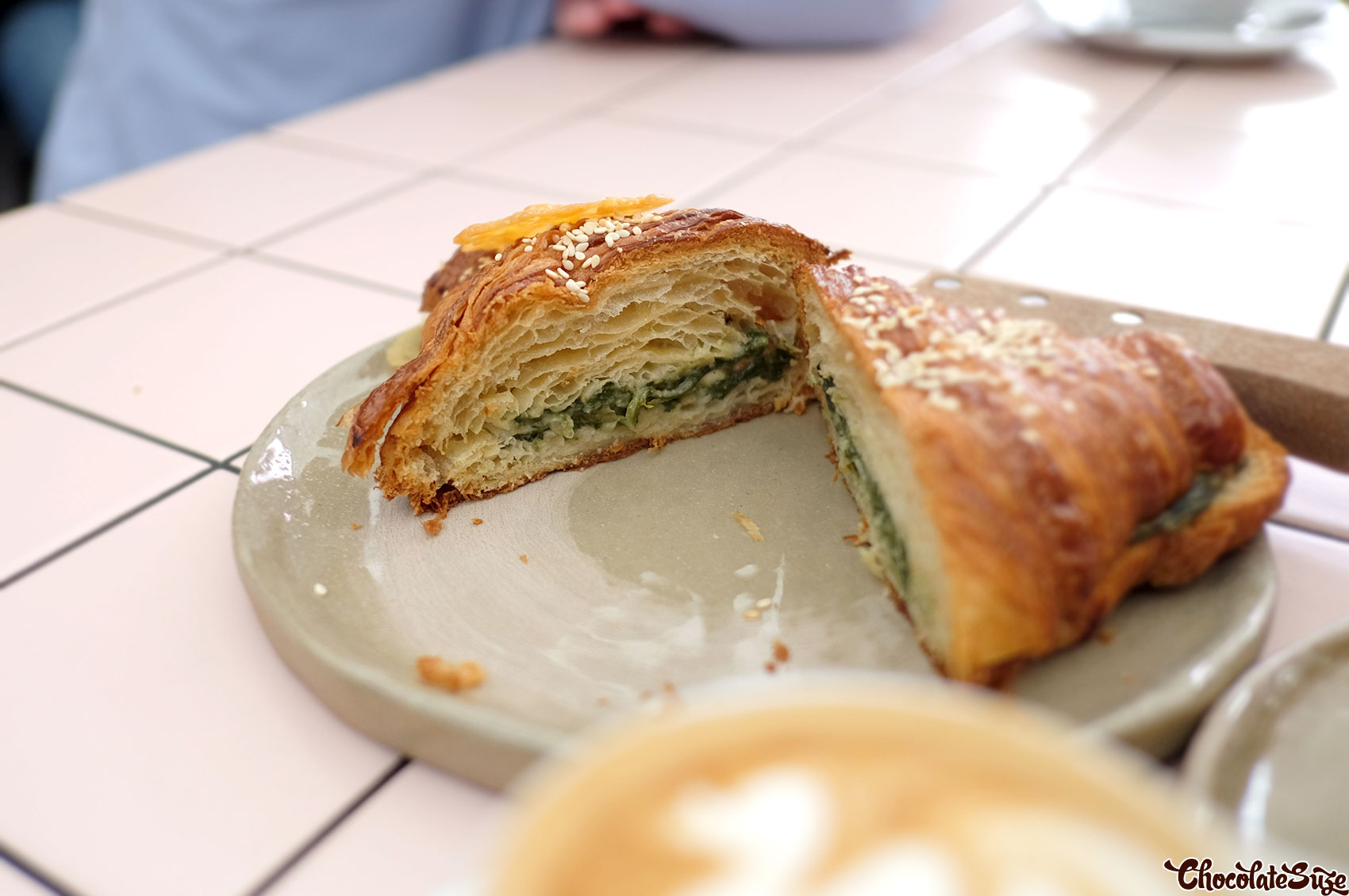 Spanakopita croissant at Rollers Bakehouse, Manly