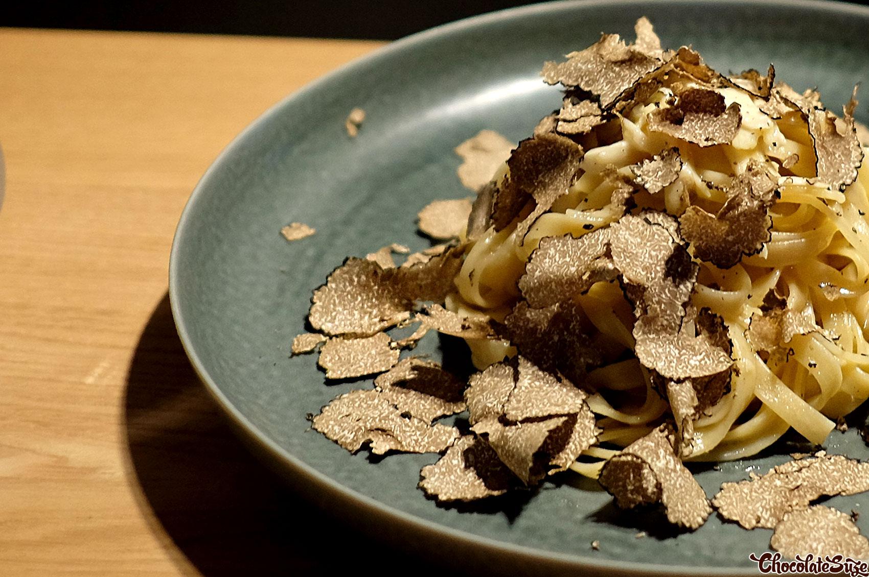 Truffle pasta at OUT Restaurant, Shibuya, Tokyo