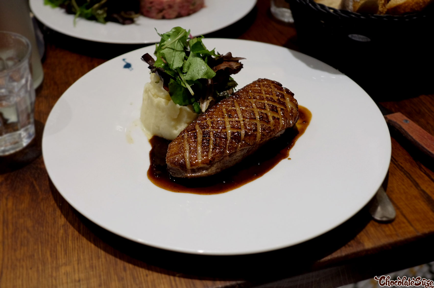 Roasted duck with balsamic sauce at Le Comptoir de la Gastronomie, Paris