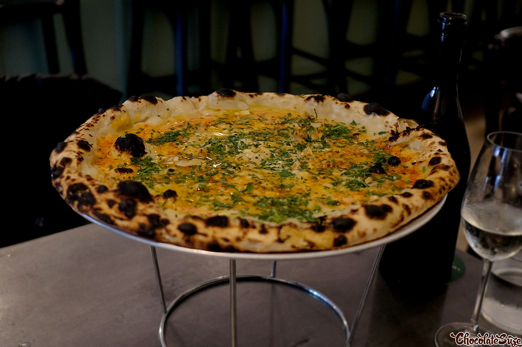 Clam pizza at Bella Brutta, Newtown