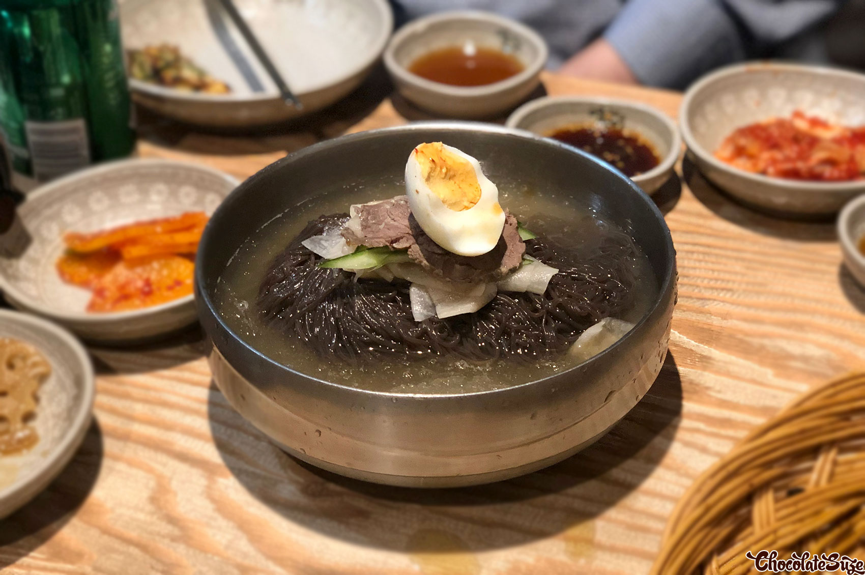 Cold buckwheat noodles at Myeongdong Korean Restaurant, Strathfield